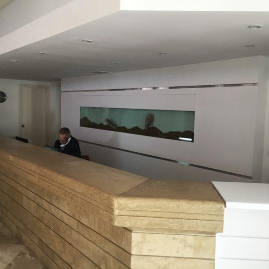 Ανακαίνιση χώρου υποδοχής ξενοδοχείου