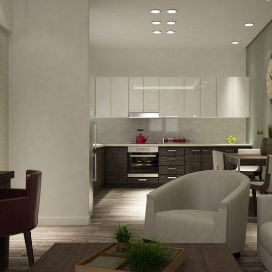 Διακόσμηση χώρου κουζίνα σαλόνι