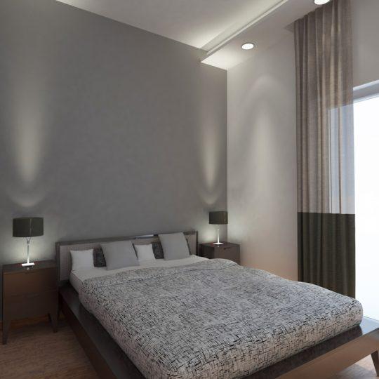 Κρεβατοκάμαρα με κρυφό φωτισμό