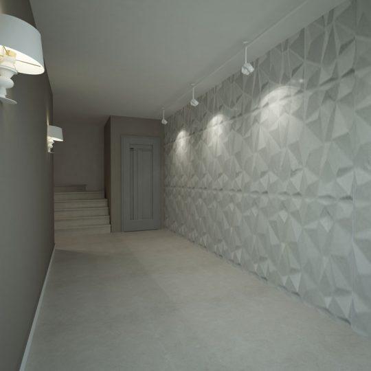 Διάδρομος με επιτοίχια τρισδιάστατη διακόσμηση