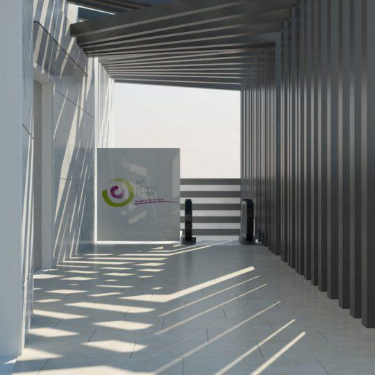 Μεταλλικό στέγαστρο εξωτερικού χώρου