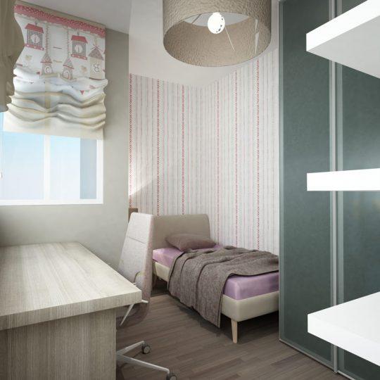 Φωτορεαλιστική απεικόνιση κρεβατοκάμαρας